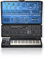 ARP 2600 and 1601 sequencer